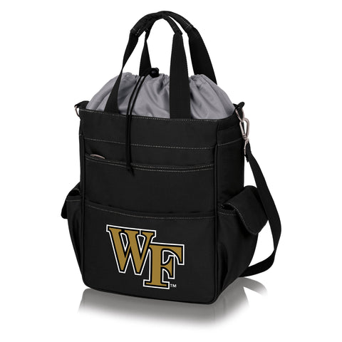 Wake Forest Demon Deacons 'Activo' Cooler Tote-Black Digital Print