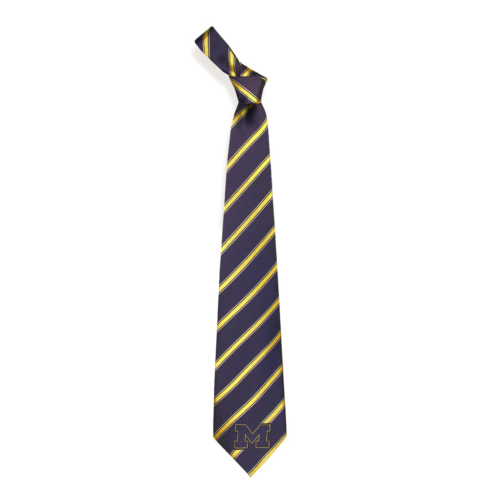 Michigan Wolverines Woven Poly Neck Tie