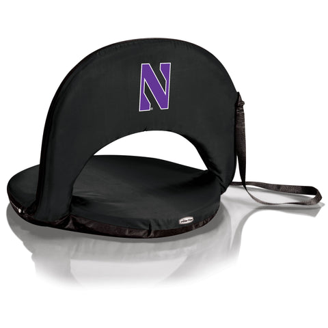 Northwestern Wildcats 'Oniva' Portable Reclining Seat-Black Digital Print