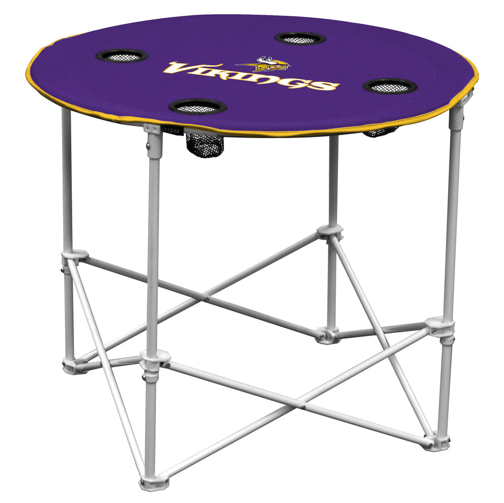 Minnesota Vikings Round Tailgate Table