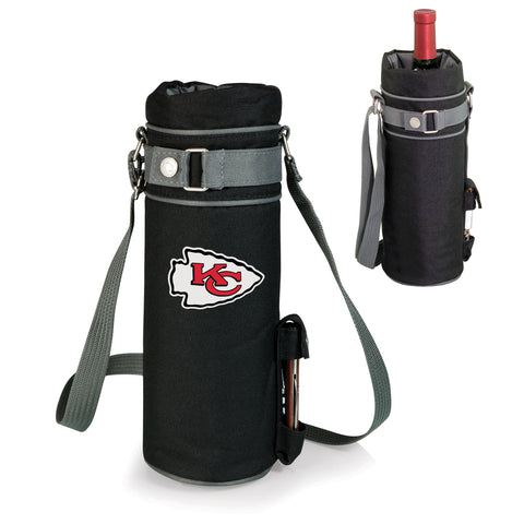 Kansas City Chiefs 'Wine Sack' Beverage Tote-Black Digital Print