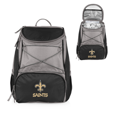 New Orleans Saints 'PTX' Cooler Backpack-Black Digital Print