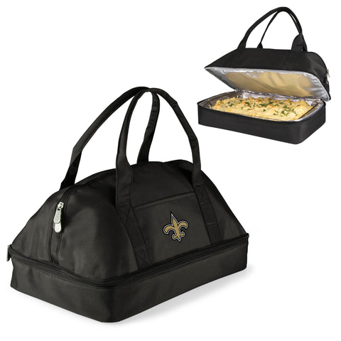 New Orleans Saints 'Potluck' Casserole Tote-Black Digital Print