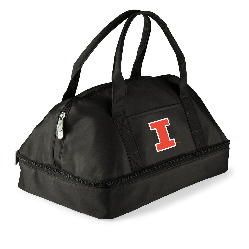 Illinois Fighting Illini 'Potluck' Casserole Tote-Black Digital Print