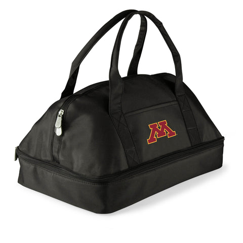Minnesota Golden Gophers 'Potluck' Casserole Tote-Black Digital Print