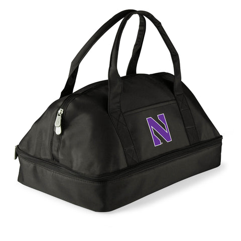Northwestern Wildcats 'Potluck' Casserole Tote-Black Digital Print