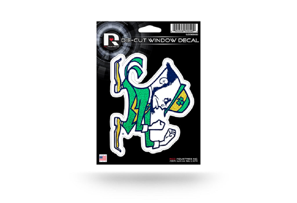 Notre Dame Fighting Irish Decal  5x5 Die Cut Bling