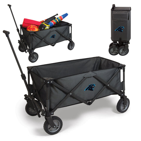 Carolina Panthers 'Adventure Wagon' Folding Utility Wagon-Dark Grey Digital Print