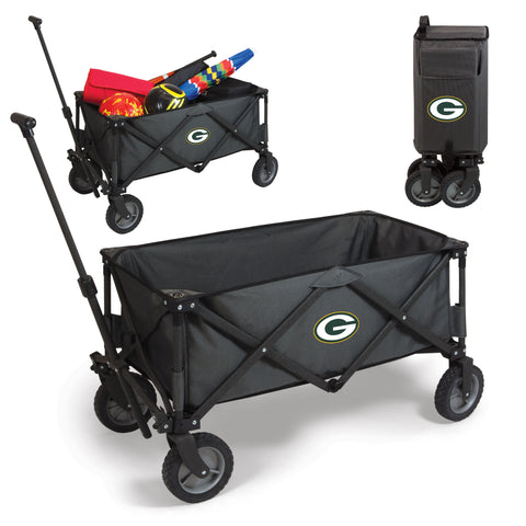 Green Bay Packers 'Adventure Wagon' Folding Utility Wagon-Dark Grey Digital Print