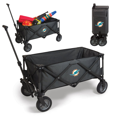 Miami Dolphins 'Adventure Wagon' Folding Utility Wagon-Dark Grey Digital Print