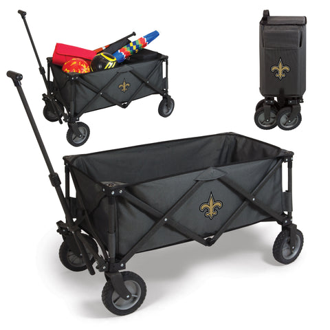 New Orleans Saints 'Adventure Wagon' Folding Utility Wagon-Dark Grey Digital Print