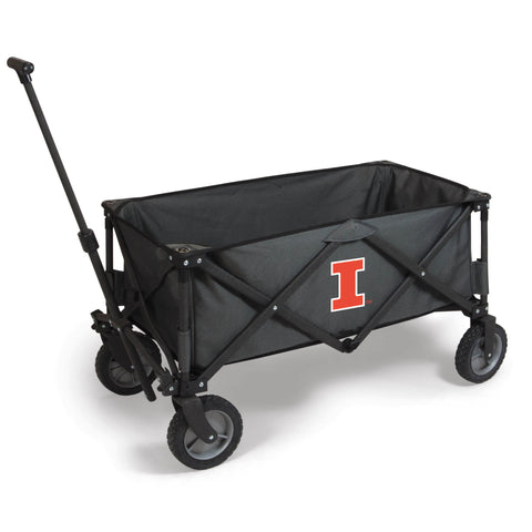 Illinois Fighting Illini 'Adventure Wagon' Folding Utility Wagon-Dark Grey Digital Print