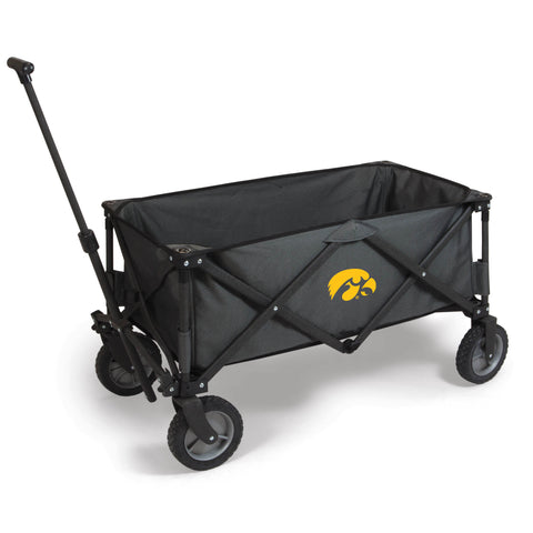 Iowa Hawkeyes 'Adventure Wagon' Folding Utility Wagon-Dark Grey Digital Print