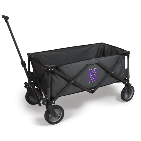 Northwestern Wildcats 'Adventure Wagon' Folding Utility Wagon-Dark Grey Digital Print