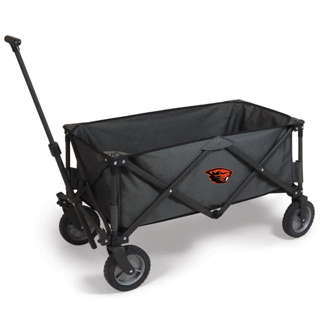 Oregon State Beavers 'Adventure Wagon' Folding Utility Wagon-Dark Grey Digital Print
