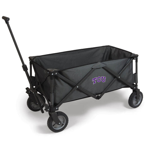 TCU Horned Frogs 'Adventure Wagon' Folding Utility Wagon-Dark Grey Digital Print