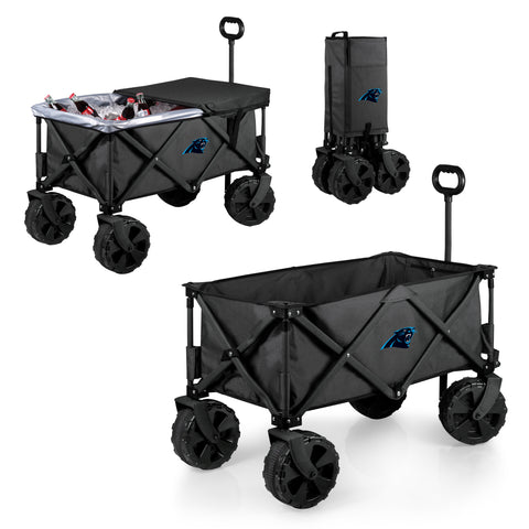 Carolina Panthers 'Adventure Wagon Elite All-Terrain' Folding Utility Wagon-Dark Grey Digital Print