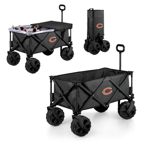 Chicago Bears 'Adventure Wagon Elite All-Terrain' Folding Utility Wagon-Dark Grey Digital Print