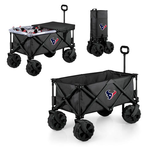 Houston Texans 'Adventure Wagon Elite All-Terrain' Folding Utility Wagon-Dark Grey Digital Print
