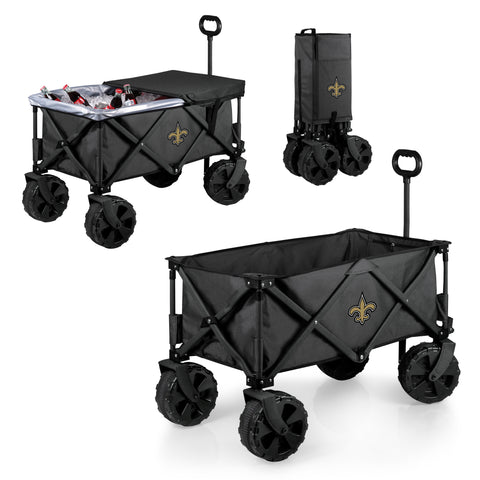 New Orleans Saints 'Adventure Wagon Elite All-Terrain' Folding Utility Wagon-Dark Grey Digital Print