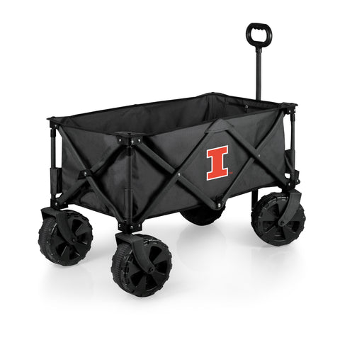 Illinois Fighting Illini 'Adventure Wagon Elite All-Terrain' Folding Utility Wagon-Dark Grey Digital Print