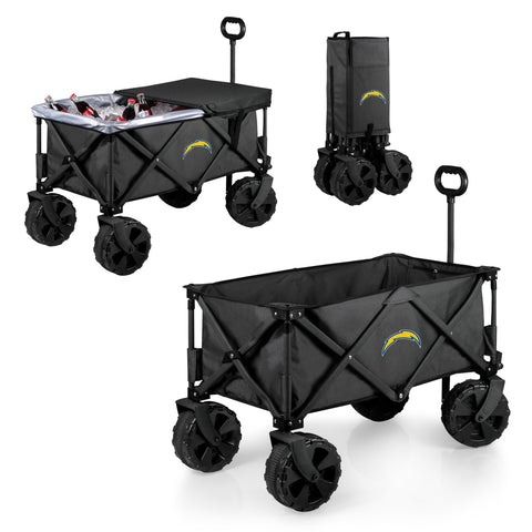 Los Angeles Chargers 'Adventure Wagon Elite All-Terrain' Folding Utility Wagon-Dark Grey Digital Print