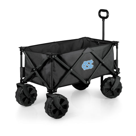North Carolina Tar Heels 'Adventure Wagon Elite All-Terrain' Folding Utility Wagon-Dark Grey Digital Print