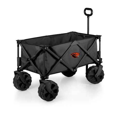 Oregon State Beavers 'Adventure Wagon Elite All-Terrain' Folding Utility Wagon-Dark Grey Digital Print
