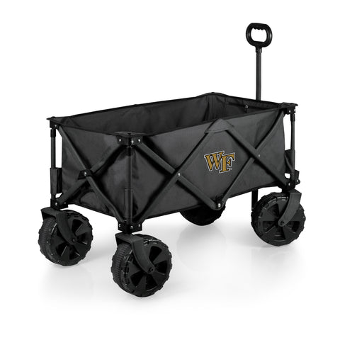 Wake Forest Demon Deacons 'Adventure Wagon Elite All-Terrain' Folding Utility Wagon-Dark Grey Digital Print