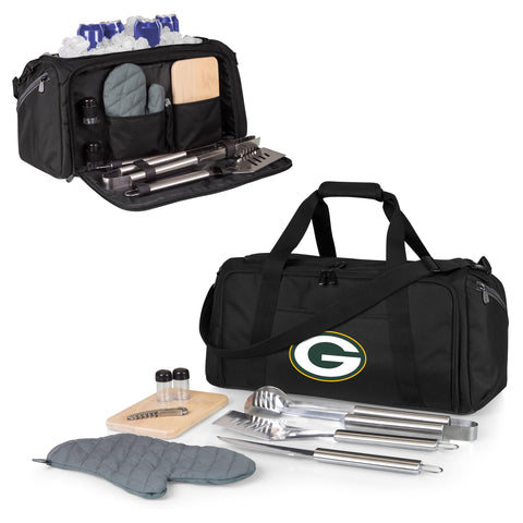 Green Bay Packers 'BBQ Kit Cooler'-Black Digital Print
