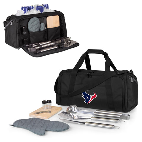 Houston Texans 'BBQ Kit Cooler'-Black Digital Print