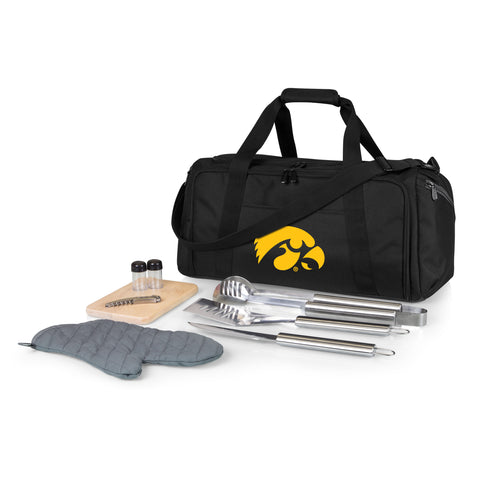 Iowa Hawkeyes 'BBQ Kit Cooler'-Black Digital Print