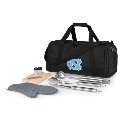 North Carolina Tar Heels 'BBQ Kit Cooler'-Black Digital Print
