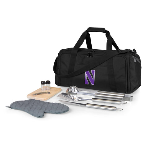 Northwestern Wildcats 'BBQ Kit Cooler'-Black Digital Print