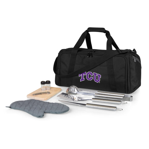 TCU Horned Frogs 'BBQ Kit Cooler'-Black Digital Print
