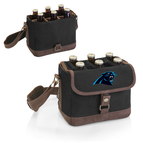 Carolina Panthers 'Beer Caddy' Cooler Tote with Opener-Black Digital Print