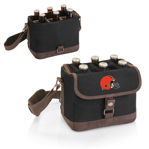 Cleveland Browns 'Beer Caddy' Cooler Tote with Opener-Black Digital Print