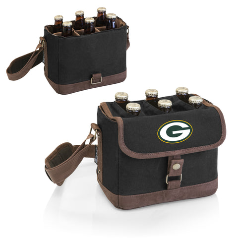Green Bay Packers 'Beer Caddy' Cooler Tote with Opener-Black Digital Print