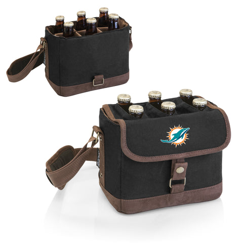 Miami Dolphins 'Beer Caddy' Cooler Tote with Opener-Black Digital Print