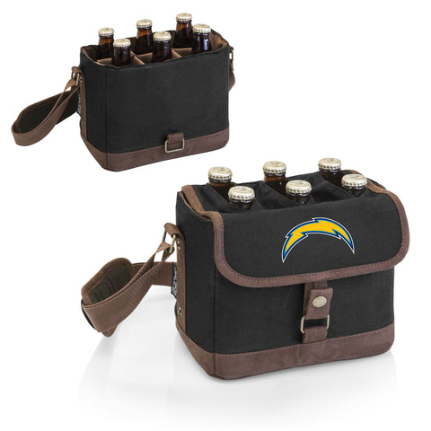 Los Angeles Chargers 'Beer Caddy' Cooler Tote with Opener-Black Digital Print