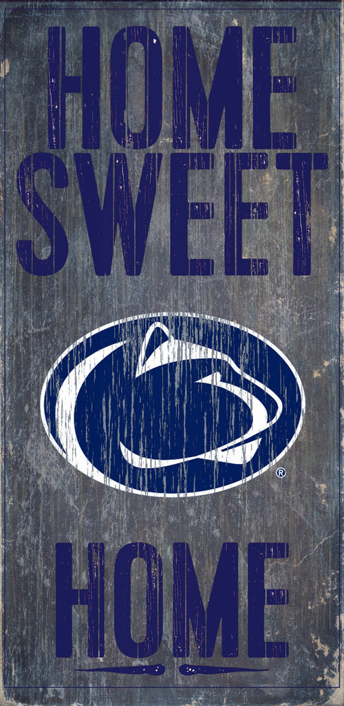 "Penn State Nittany Lions Wood Sign - Home Sweet Home 6""x12"""