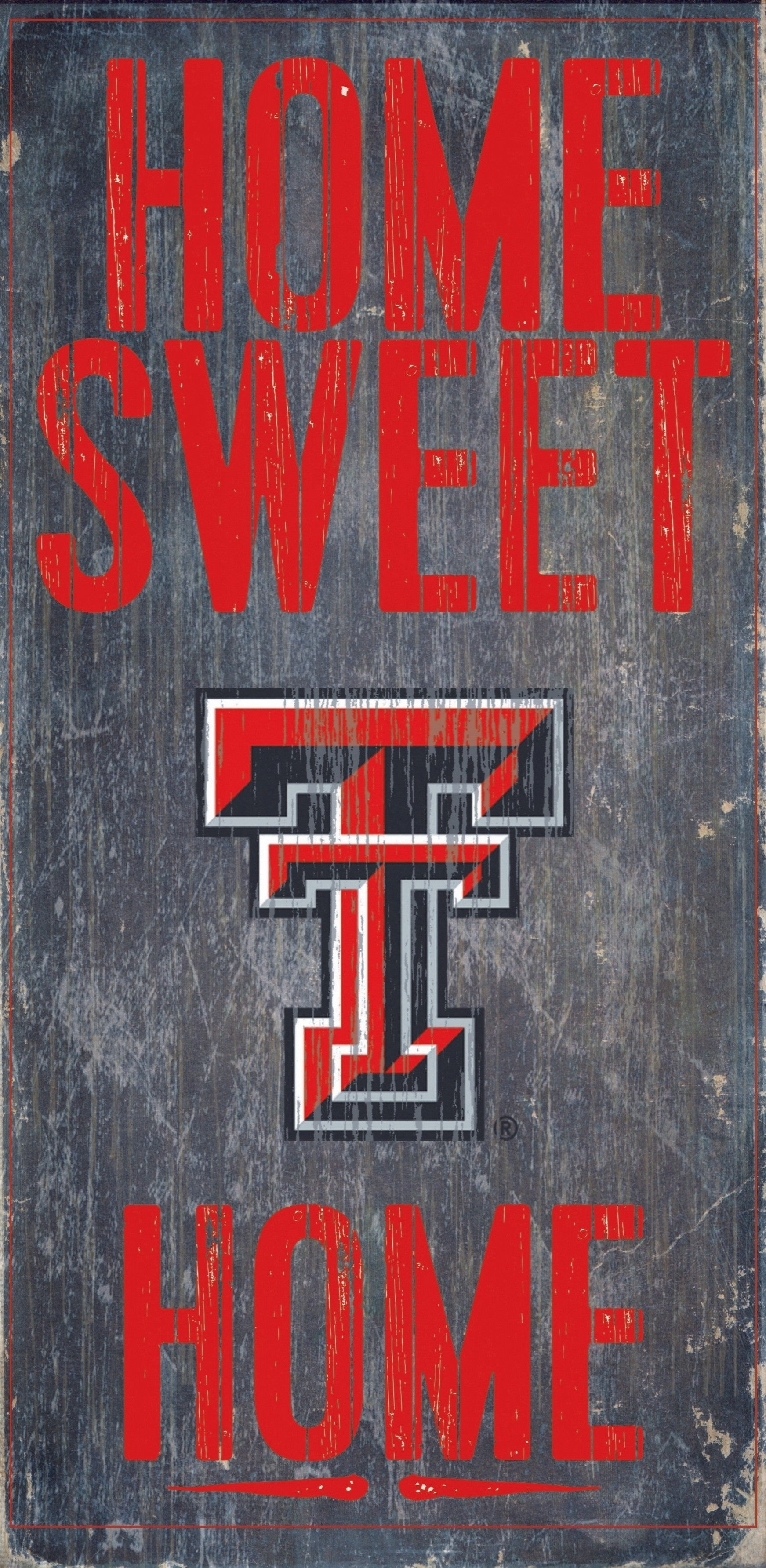 Texas Tech Red Raiders Wood Sign Home Sweet Home 6x12