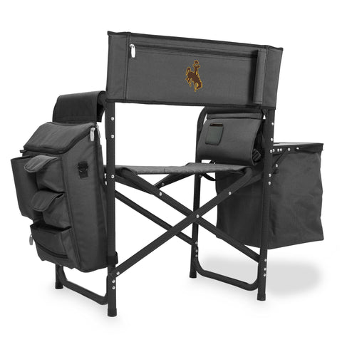 Wyoming Cowboys 'Fusion' Backpack Chair with Cooler-Fusion Grey/Black Digital Print