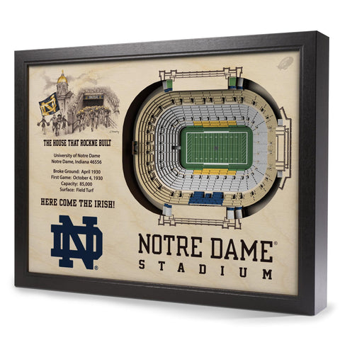 Notre Dame Fighting Irish 25-Layer StadiumView 3D Wall Art