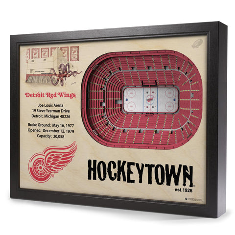 Detroit Red Wings 25-Layer StadiumView 3D Wall Art