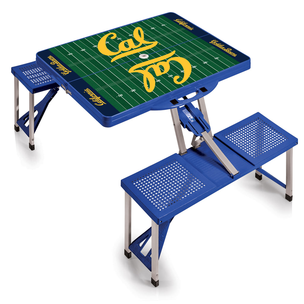 Cal Bears 'Picnic Table Sport'-Blue Digital Print