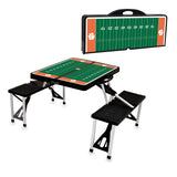 Clemson Tigers 'Picnic Table Sport'-Black Digital Print