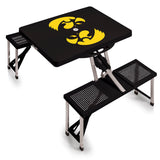 Iowa Hawkeyes 'Picnic Table'-Black Digital Print