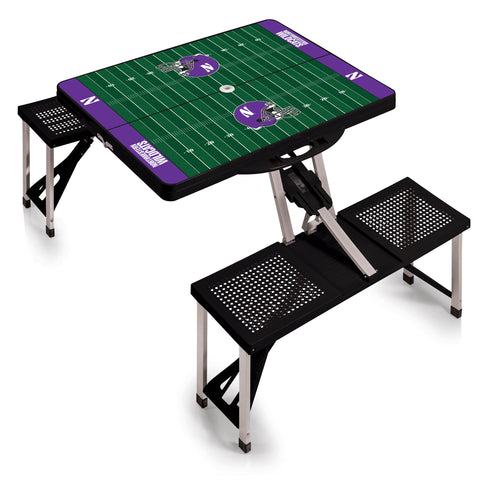 Northwestern Wildcats 'Picnic Table Sport'-Black Digital Print