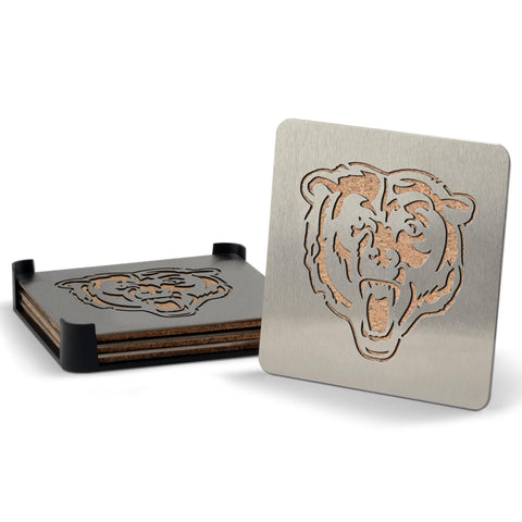 Chicago Bears 4-piece Boaster Drink Coaster